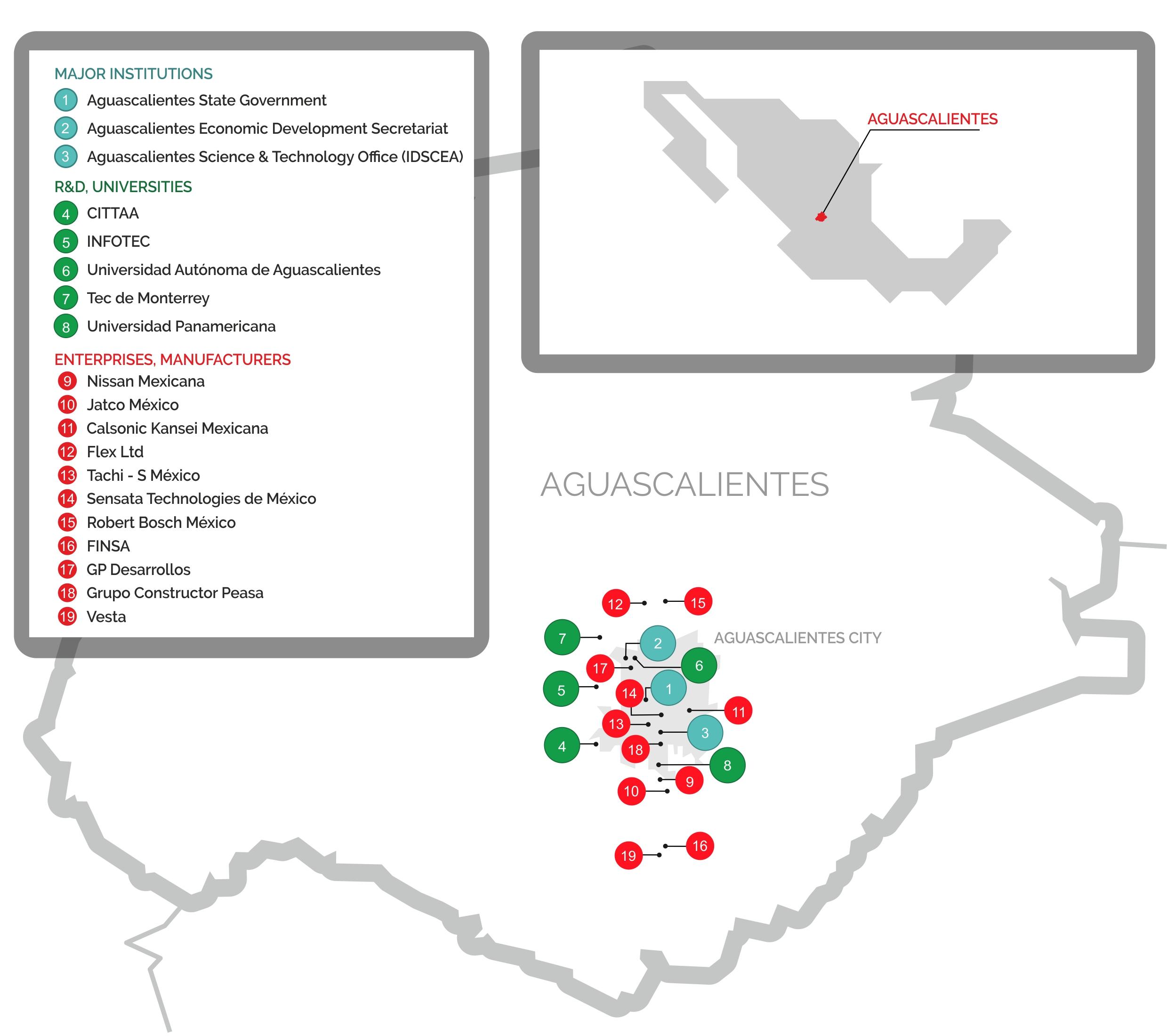 map aguascalientes